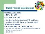 basic pricing calculations