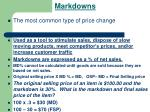 markdowns