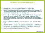 backhaul extension service bes