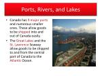 ports rivers and lakes