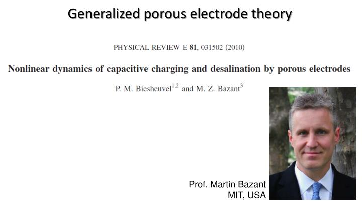 Generalized porous electrode theory