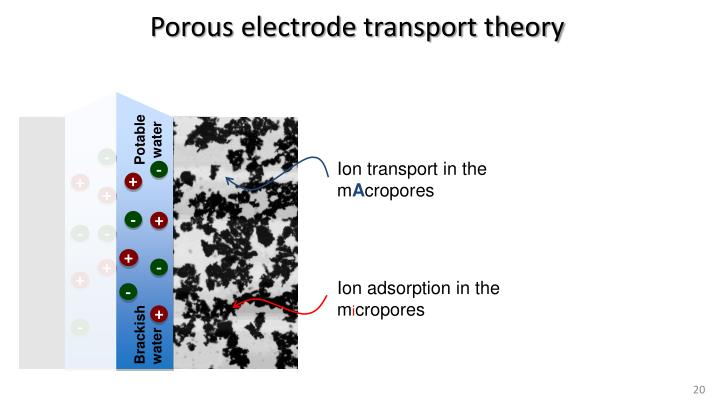 Porous electrode transport theory