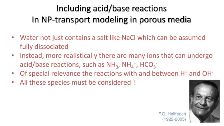 Including acid/base reactions