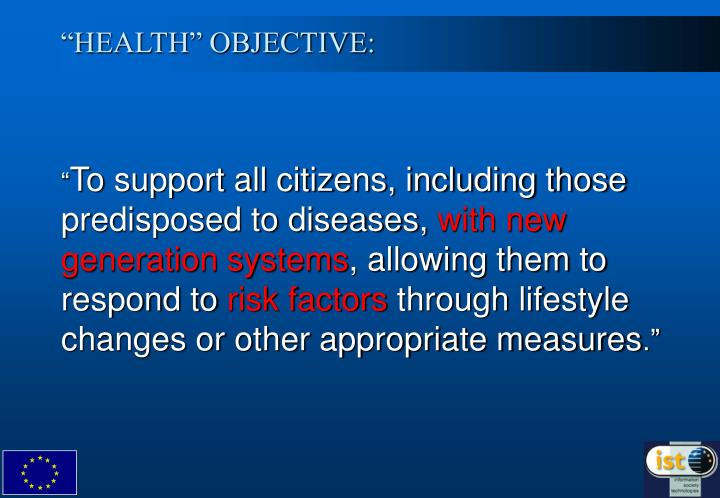 Health objective