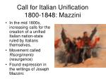 call for italian unification 1800 1848 mazzini