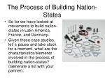 the process of building nation states