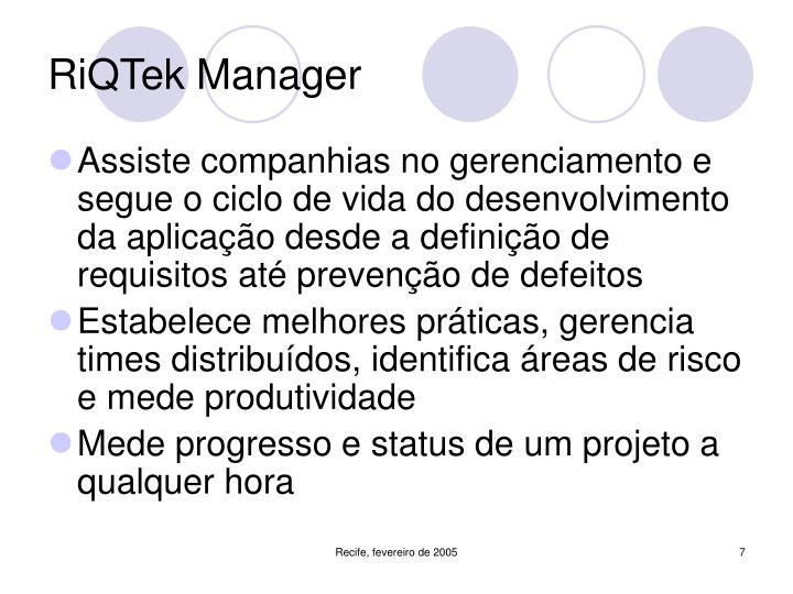 RiQTek Manager