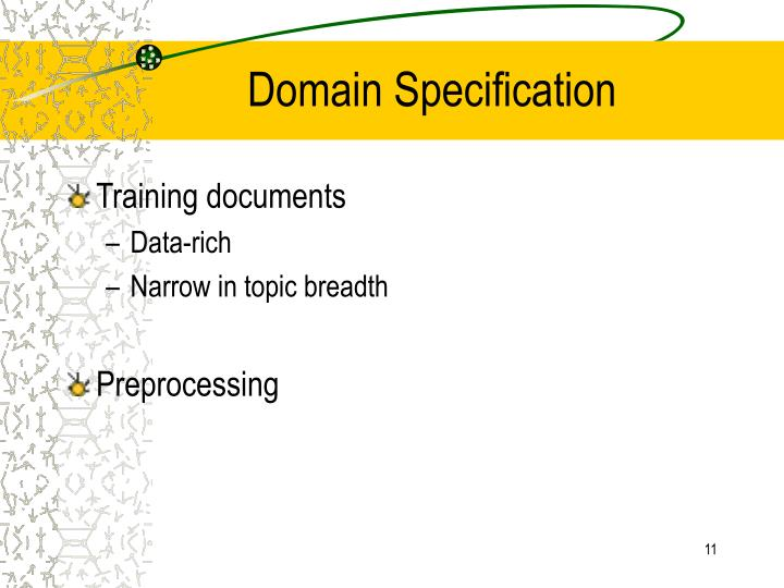 Domain Specification