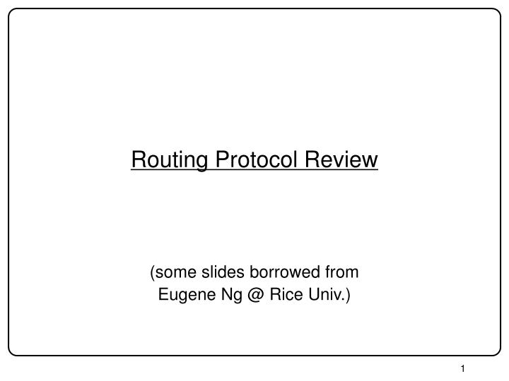 routing protocol review n.