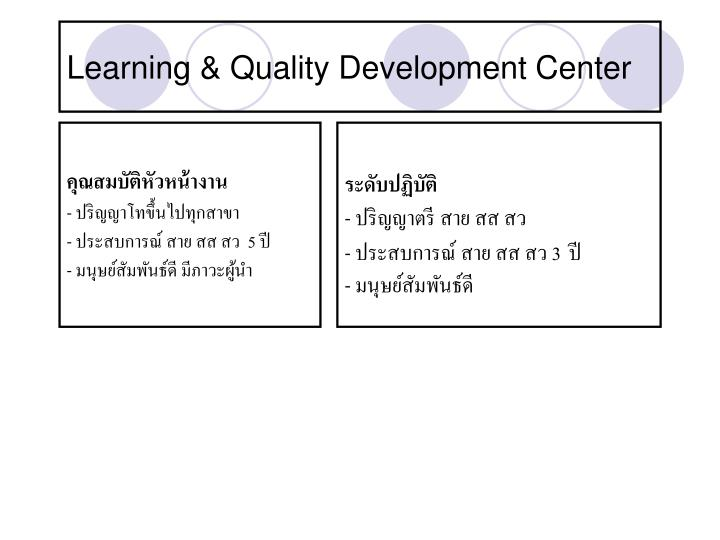 Learning &