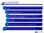 key success factors project management