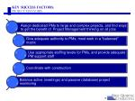 key success factors project managers