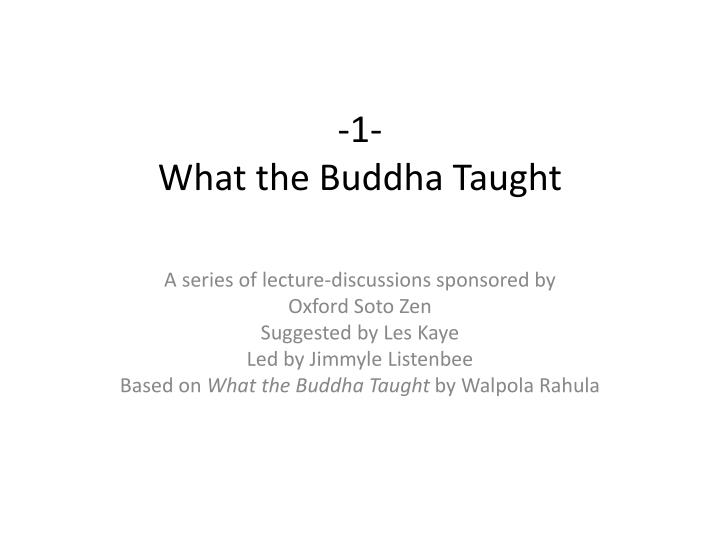 1 what the buddha taught n.