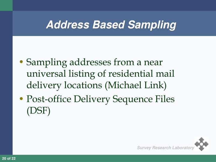 Address Based Sampling