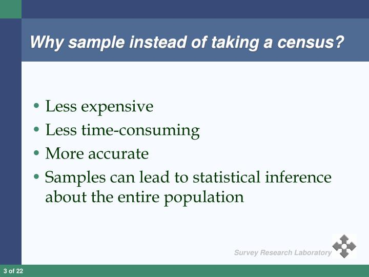 Why sample instead of taking a census
