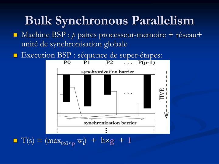 Bulk Synchronous Parallelism
