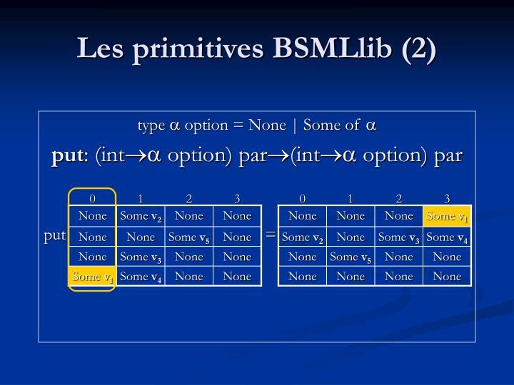 Les primitives BSMLlib (2)