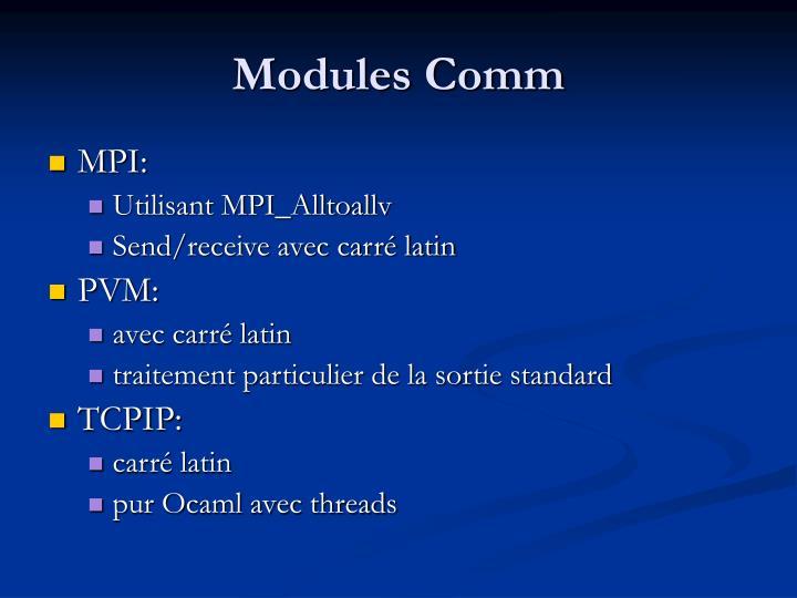 Modules Comm