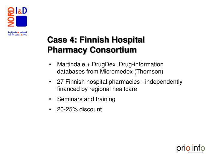 Case 4: Finnish Hospital Pharmacy Consortium
