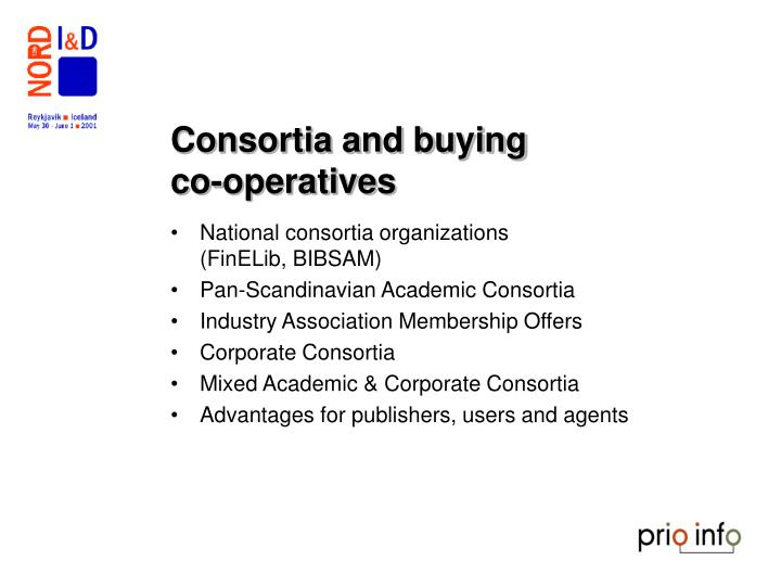 Consortia and buying