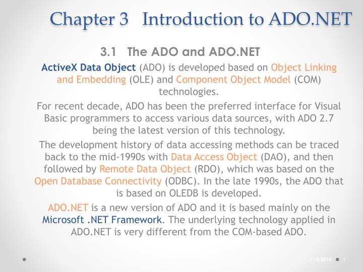 chapter 3 introduction to ado net n.