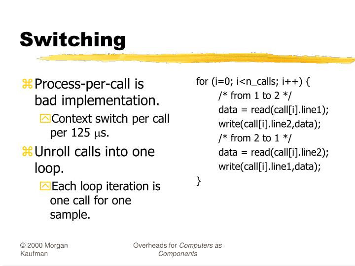 Process-per-call is bad implementation.
