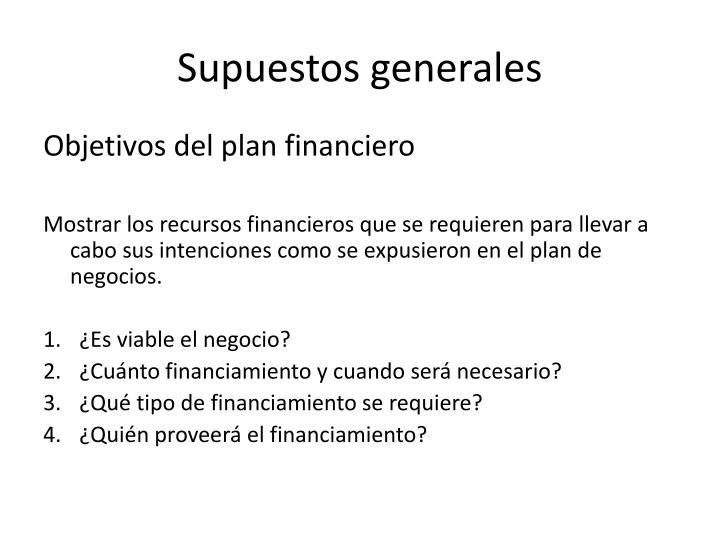 Supuestos generales1