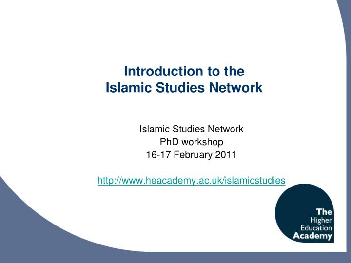 introduction to the islamic studies network n.