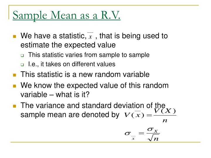 Sample Mean as a R.V.