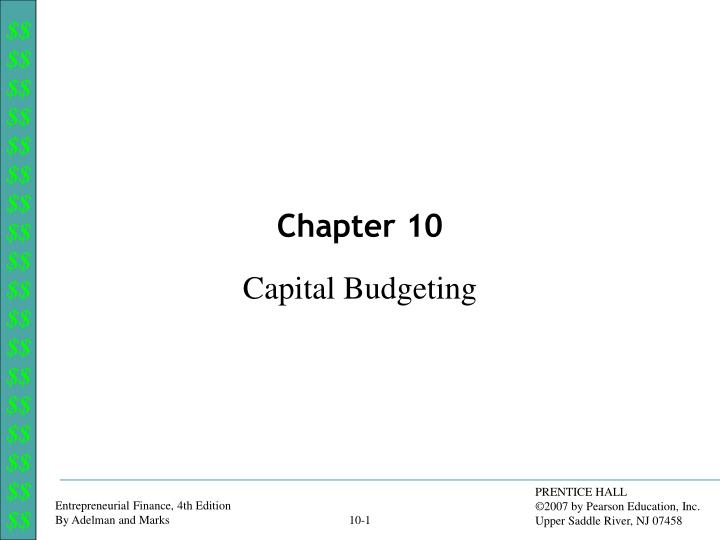 chapter 29 capital budgeting Cost accounting, 15e (horngren/datar/rajan) chapter 21 capital budgeting and cost analysis objective 211 1) which of the following involves the process of making.