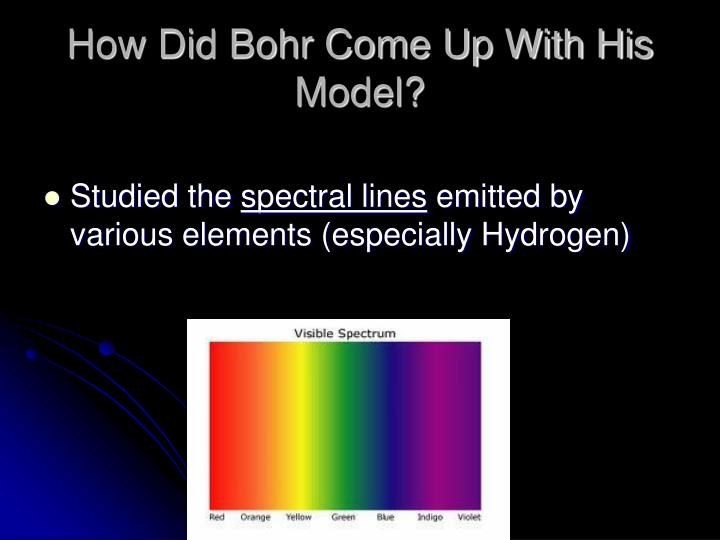 How Did Bohr Come Up With His Model?