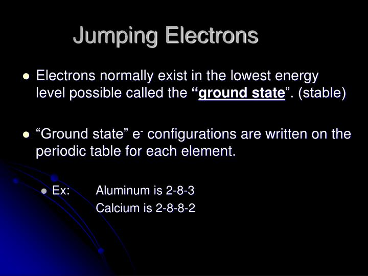 Jumping Electrons