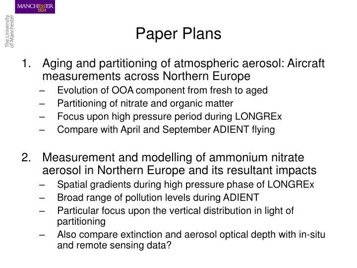 Paper Plans