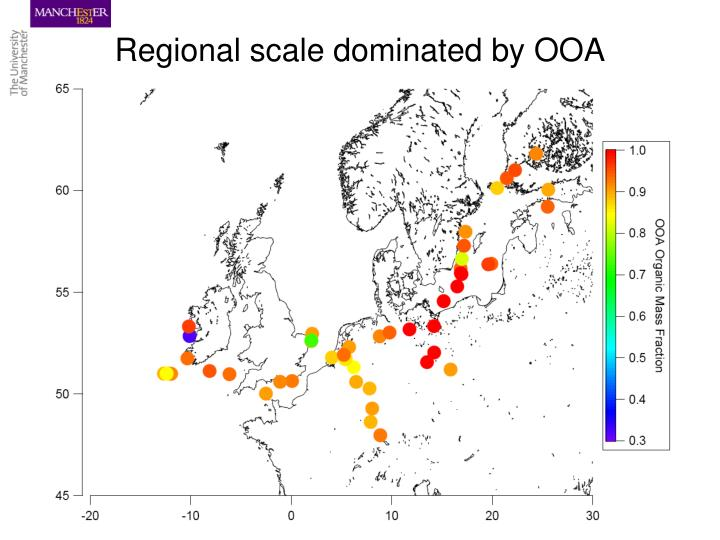Regional scale dominated by OOA