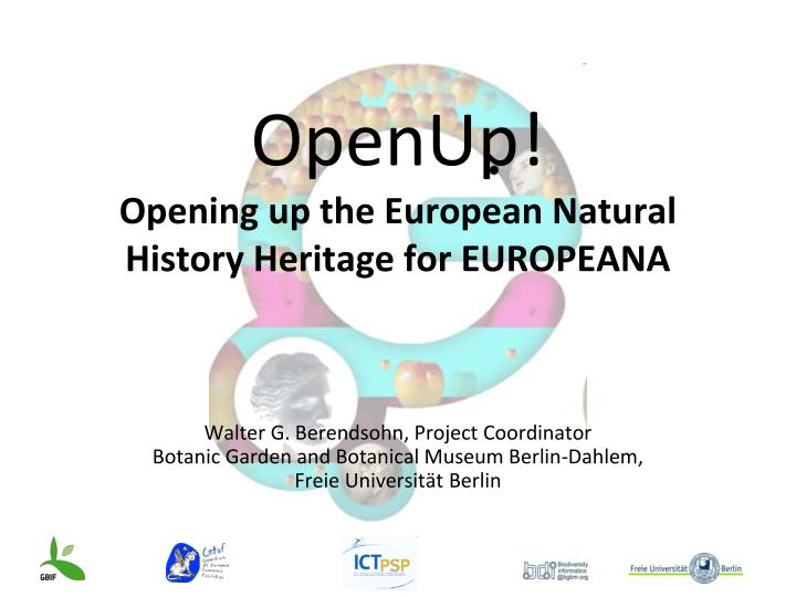 openup opening up the european natural history heritage for europeana n.