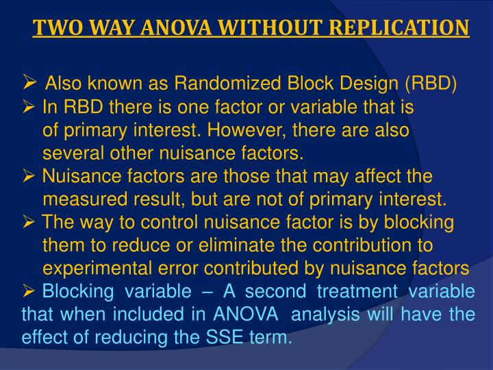 two way anova without replication n.