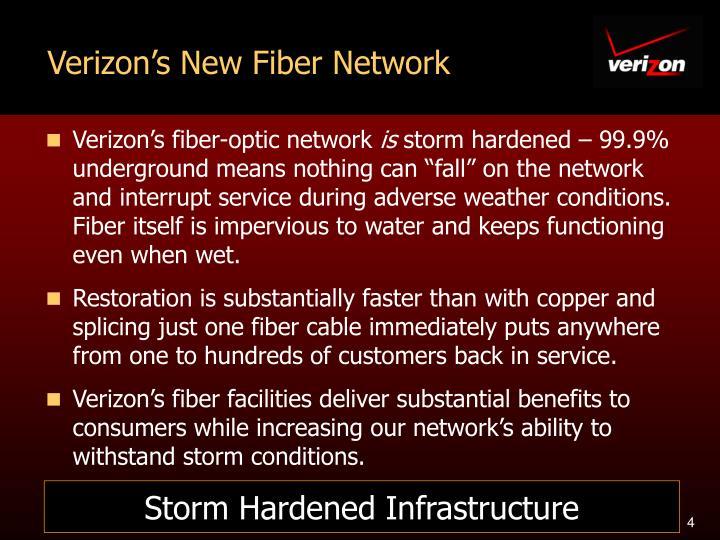 Verizon's New Fiber Network