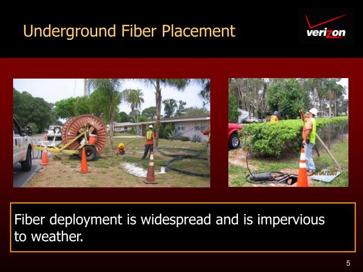 Underground Fiber Placement