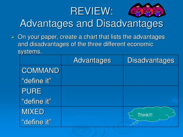what is command economy advantages & disadvantages