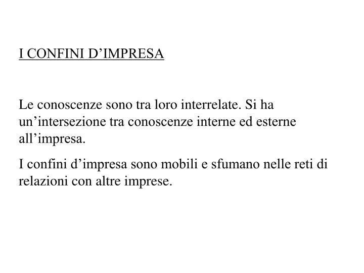I CONFINI D'IMPRESA