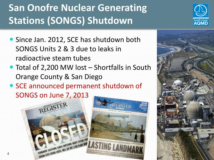 San Onofre Nuclear Generating Stations (SONGS) Shutdown