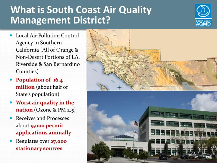 What is south coast air quality management district