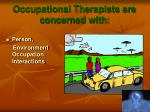 occupational therapists are concerned with