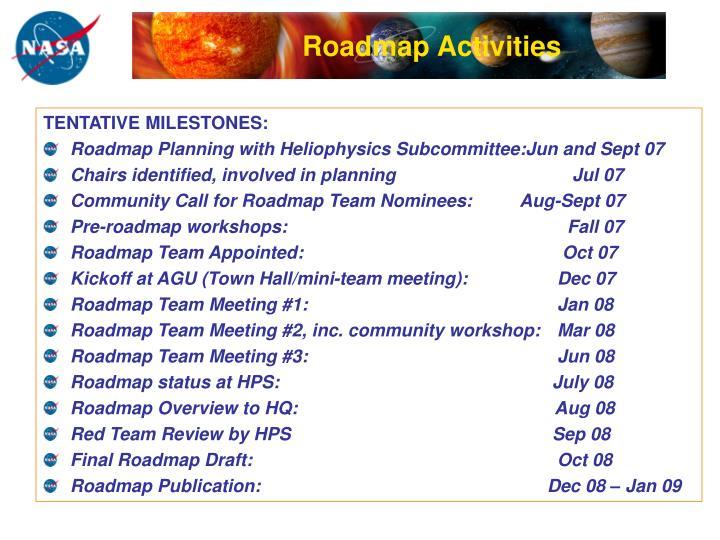 Roadmap Activities