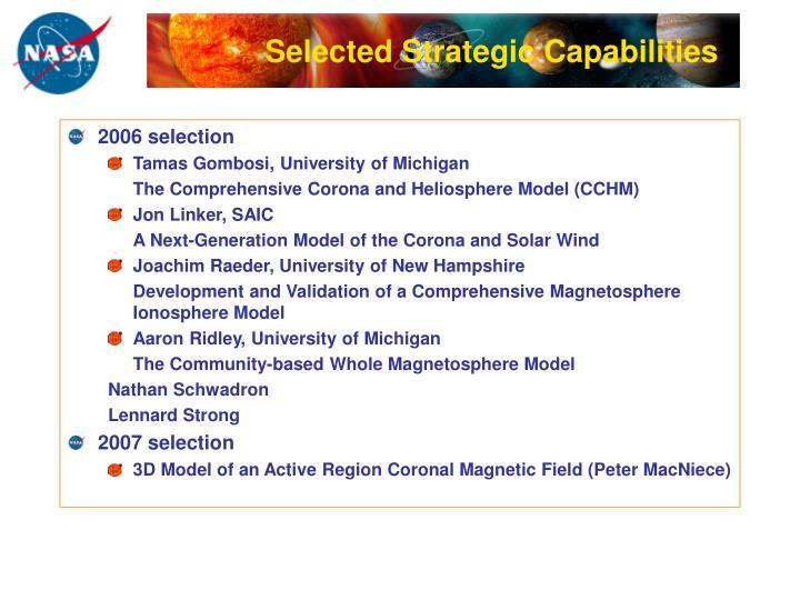 Selected Strategic Capabilities