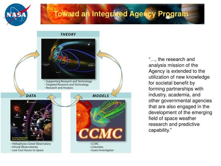 Toward an Integrated Agency Program