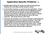 application specific problems 2