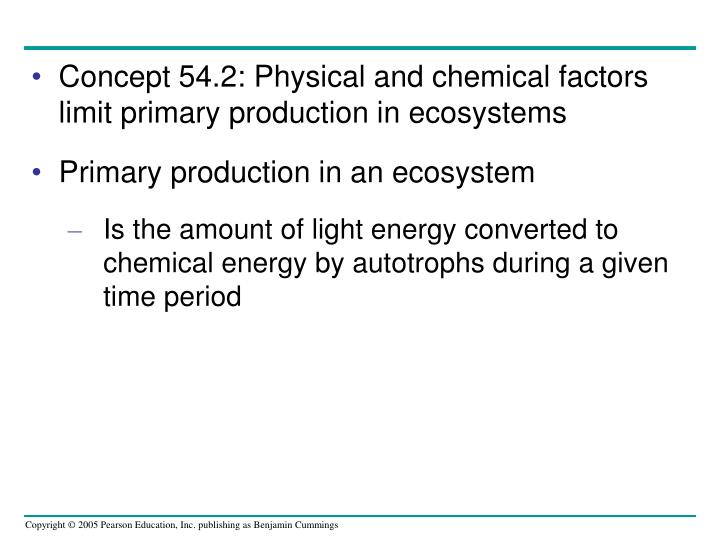 Concept 54.2: Physical and chemical factors limit primary production in ecosystems