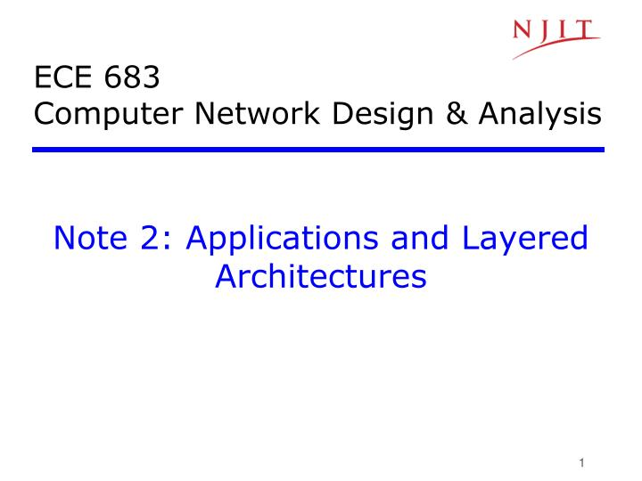 ece 683 computer network design analysis n.