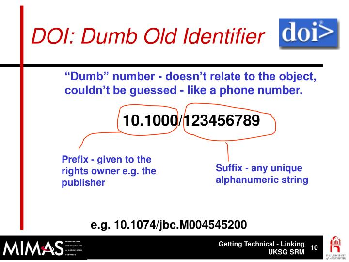 DOI: Dumb Old Identifier